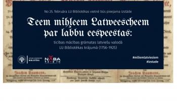 Dienas apskats. LU Bibliotēka atklās virtuālo izstādi par senajām ticības mācības grāmatām
