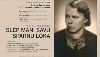 Jāņa Akuratera muzejs aicina uz Laimas Akurateres 110.dzimšanas dienas svinībām