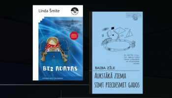 """Lindas Šmites romāns """"Bez adatas"""" un Baibas Zīles """"Aukstākā ziema simt piecdesmit gados"""""""