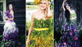 Флорист-самоучка создаёт волшебные платья из цветов