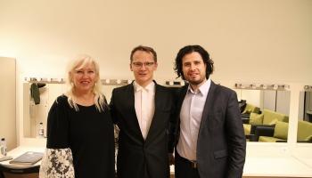 """Andrejs Osokins, Igaunijas Valsts SO un diriģents Kaspars Mends koncertzālē """"Cēsis"""""""