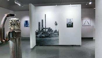 Jāņa Mintika izstādē Cēsīs var aplūkot viņa instalācijas, gleznas un grafikas