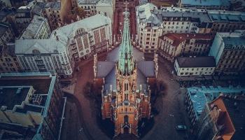 Vasarsvētku dievkalpojums no Rīgas Vecās Svētās Ģertrūdes luterāņu baznīcas