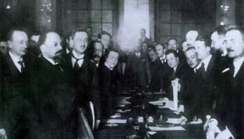 Rīgas miera līgums 1921. gadā starp Poliju un padomju valsti