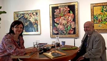 Jura Jurjāna gleznas un grāmata, Miķeļa Fišera personālizstāde un vēl viena grāmata