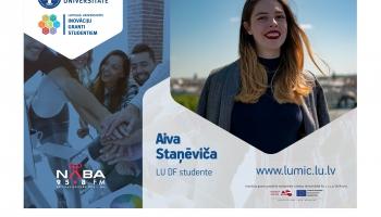 LUMIC granti studējošajiem. Saruna ar LU Datorikas fakultātes studenti Aivu Staņēviču