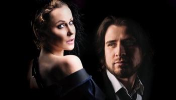 """Rēzija Kalniņa un Andrejs Osokins mūzikas un dzejas programmā """"Brīdis pēc vakariņām"""""""