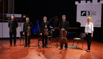 """Klavieru kvartets """"Quadra"""" Latvijas Radio 1. studijā"""