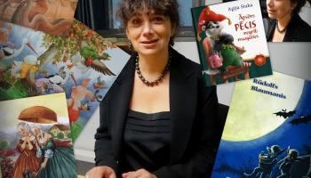 Zelta pogas sabiedrībā - grāmatu ilustratore Agija Staka