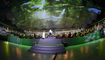 """Dziesmu un deju svētku vokāli simfoniskās mūzikas koncerts Arēnā """"Rīga"""""""