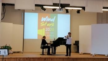 """Konkurss """"Wind Stars 2020"""" Mārupes mūzikas un mākslas skolu pārvērtis par skudru pūzni"""