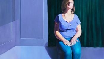 Gleznotājas Rasas Šulcas jaunās izstādes centrā dvīņu tēma