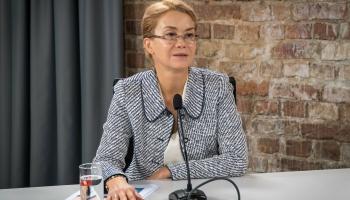 """Krustpunktā - lidostas """"Rīga"""" valdes priekšsēdētāja Ilona Līce"""