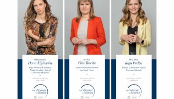 """Latvijas zinātnieces saņem L`ORÉAL Baltic balvu """"Sievietēm zinātnē"""""""