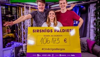 Labdarības maratonā «Dod pieci!» trijās diennaktīs saziedoti 106 173 eiro