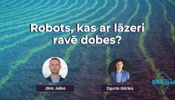 Robots, kas ar lāzeri ravē laukus - Weedbot