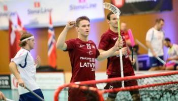 Zaudējums Latvijas florbola valstsvienībai arī čehiem, bet rīt spēle pret Norvēģiju
