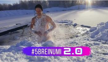 #5BREINUMI 2.0 & fizioterapeits Māris Klaučs un ziemas peldes