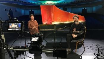 Ieva Saliete (klavesīns) un Matīss Čudars (ģitāra) VEF Kultūras pilī
