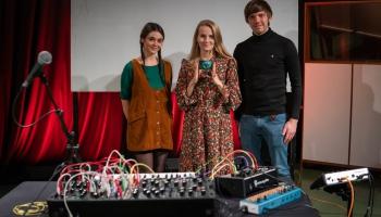 Latvijas Radio 1. studijā - Evija Vēbere un Toms Mikāls