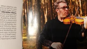 """Albums """"Baltic Concerti"""" un saruna ar lietuviešu vijolnieku Džeraldu Bidvu"""