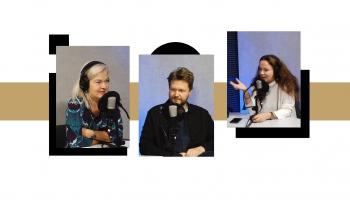 Latgales studijā Rēzeknē – Liene Jakovļeva, Diāna Zirniņa un Guntis Kuzma