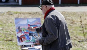 Gleznotājs un skolotājs Osvalds Zvejsalnieks