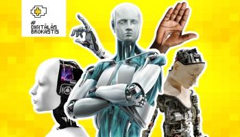 """Kiborgi, čipi un cilvēku uzlabošana. Diskusija festivālā """"Lampa"""""""
