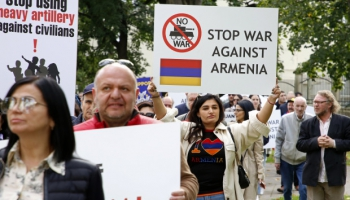 Армяне Латвии - за мир в Нагорном Карабахе