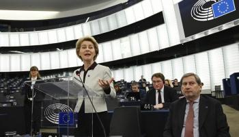 EK prezidente Urzula fon der Leiena Eiropas Parlamentā atskaitās par stāvokli savienībā