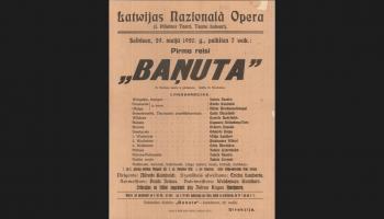 """Alfrēda Kalniņa operai """"Baņuta"""" - 100!"""