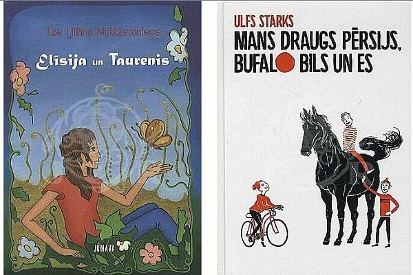 """Grāmatas """"Elīsija un taurenis"""" un """"Mans draugs Pērsijs, Bufalo Bils un es"""""""