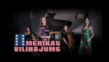 """""""Latvian Sound Quartet"""" koncerts """"Amerikas vilinājums"""" Spīķeru koncertzālē"""