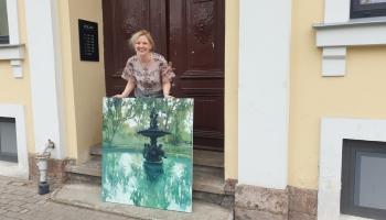 """Galerijas """"Jēkabs"""" mājaslapā aplūkojami Alises Mediņas jaunākie darbi - Rīgas ainavas"""
