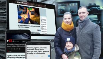 Cilvēks ziņu virsrakstos: daudzbērnu Tukānu ģimene par attālinātajām mācībām