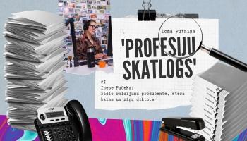 """""""Profesiju skatlogā"""" producente un ētera balss Inese Pučeka"""