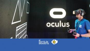 Latvijas startapa Uppo plaukstas balsts un Facebook virtuālā realiāte