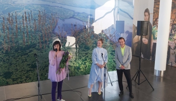 Ginta Gabrāna jaunākā izstāde - nākotnes mākslas burvīgais vēstnesis