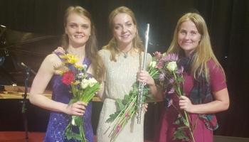 Latvijas Radio I studijā muzicē Alisa Klimanska (flauta) un Elīna Gaile (klavieres)