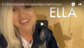 DJ Ella videotiešraidē no Kalifornijas