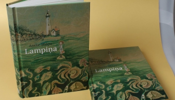 """Stāsts par jūru, noslēpumainām radībām un drosmi. Anetes Shāpas grāmata """"Lampiņa"""""""