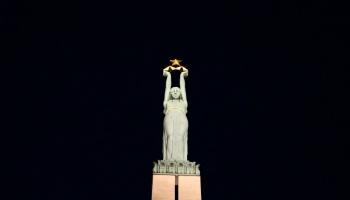 18. novembris. 1935. gadā Rīgā atklāja Brīvības pieminekli