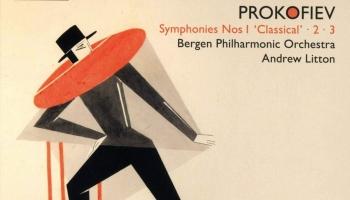 Bergenas filharmoniskais orķestris un diriģents Endrū Litons S. Prokofjeva mūzikas albumā