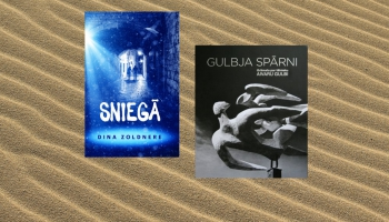 """Dinas Zoldneres """"Sniegā"""" un grāmata """"Gulbja spārni"""" par tēlnieku Aivaru Gulbi"""