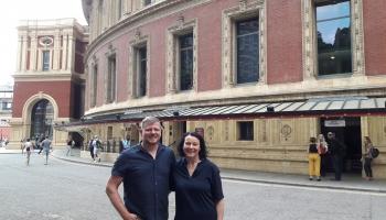 """Ēriks Ešenvalds un Iveta Apkalna Londonas festivālā """"BBC Proms"""""""