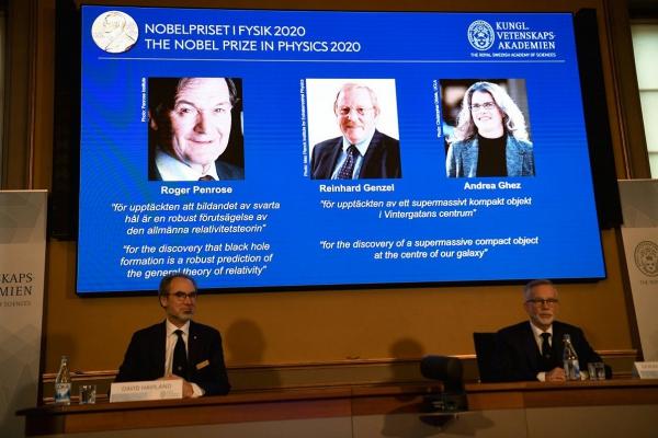 Nobela prēmija fizikā 2020. gadā piešķirta par melno caurumu pētījumiem