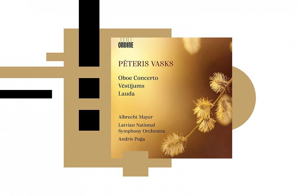 """Albums """"Pēteris Vasks: Obojas koncerts. Vēstījums. Lauda"""" (Ondine, 2021)"""