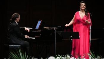"""Olga Peretjatko (soprāns) un Matiass Samuils (klavieres) festivālā """"Rīga-Jūrmala"""""""