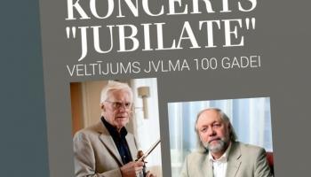 Gunārs Larsens un Ventis Zilberts vijoļsonāšu vakarā JVLMA