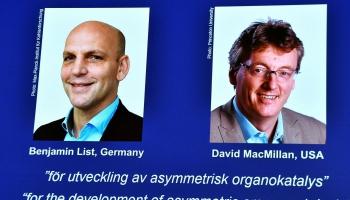 Nobela prēmija ķīmijā saņems zinātnieki par organo katalīzes metodes radīšanu